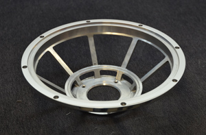 milled and polished loudspeaker basket